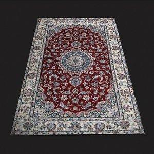 Persian Carpet Design Three 3D model