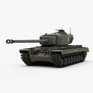 3D T29 Heavy Tank model