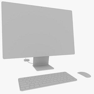 3D Apple iMac 24-inch 2021 3D model