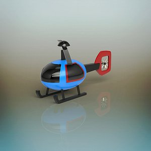 3D toy helicopter model