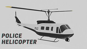 police helicopter 3D