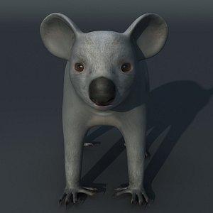 3D koala rigged model