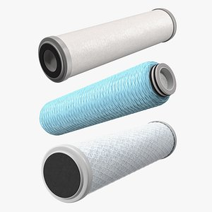 Water Filter Cartridges Collection 2 3D model