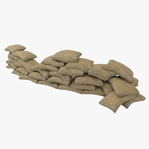 3D model Sandbags