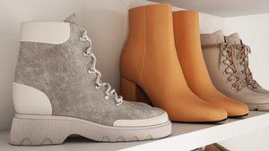 shoes fashion boots 3D model