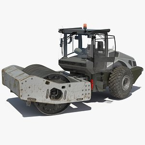 3D Heavy Duty Single Drum Compactor Dirty Rigged