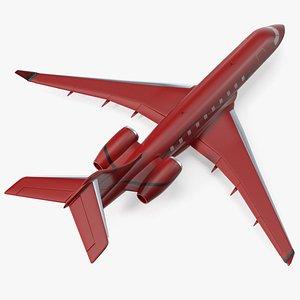 3D Business Jet Scale Model