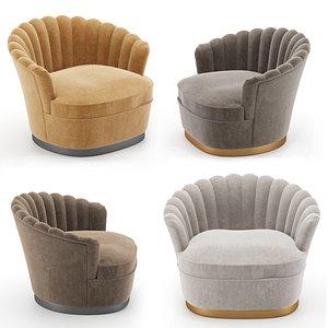 zanaboni armchairs chair 3D model