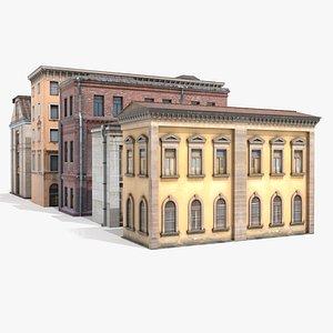 3D Building Facades 10 model