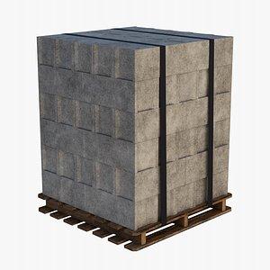 construction blocks 3D model