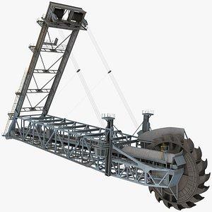 Giant Bucket Wheel Excavator 3D model