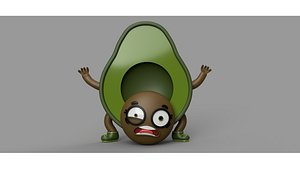 Funny Avocado 3D model