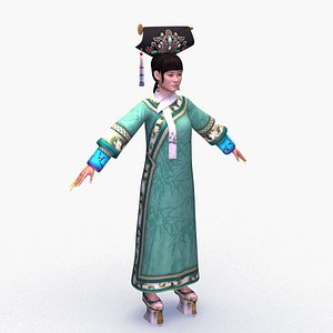 chinese palace maid 3D model