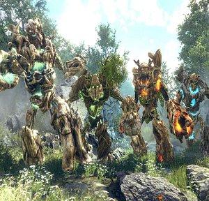 3D forest golems model