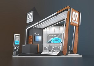EXHIBITION STAND BS 36 Sqm 3D model