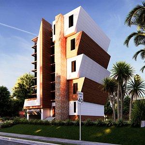 3D modern building 18
