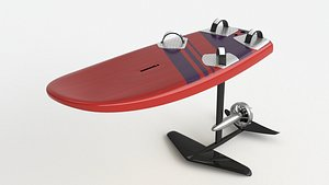 3D model Electronic Hydrofoil surf board