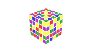 3D Rubiks Cube 5x5x5 model