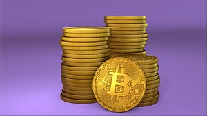 3D Bitcoin - Cryptocurrency