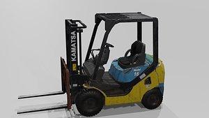 3D Forklift High poly kamatsa model