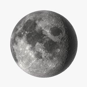 3D photorealistic moon