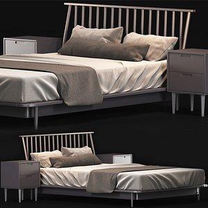 Modern Bed Living Wayfair Home 3D model