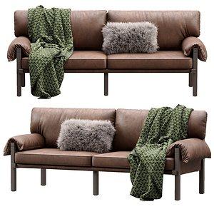 lita leather sofa 3D model