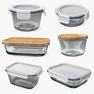 Glass Food Storage Containers Collection model