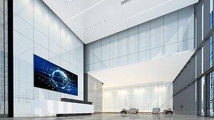 3D model Lobby Reception 03