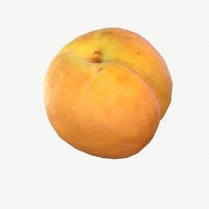 3D 03 apricot fruit modeled model