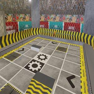3D robo robot arena model