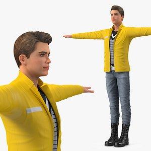 Teenage Boy Fashionable Style T Pose 3D model