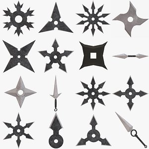 shuriken throwing star model