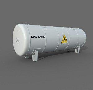 Lpg Storage Tank 3D