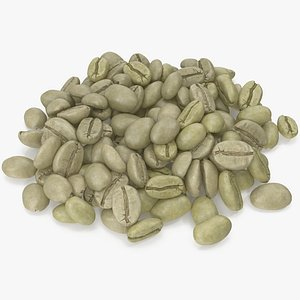coffee unroasted green 3D model