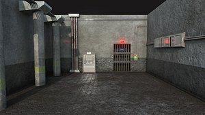 prison security room - 3D model