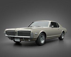 3D 1968 Mercury Cougar