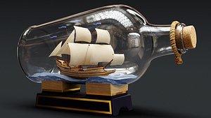 3D Boat in a Bottle