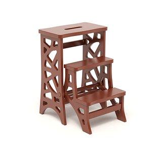 Step Stool Chair V3 3D