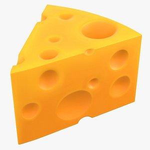 Cartoon Cheese PBR 3D model