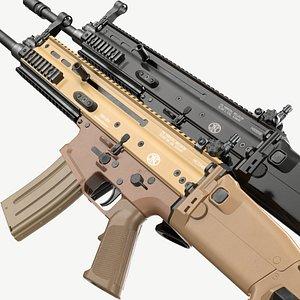 FN SCAR-L FDE Black Noir Game Ready model