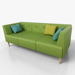 sofa green 3D
