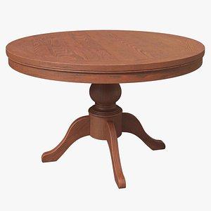 Ipe Round Table 3D