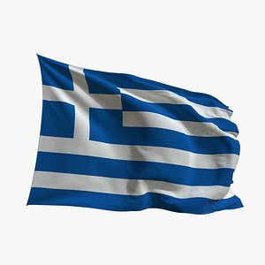 Realistic Animated Flag - Microtexture Rigged - Put your own texture - Def Greece 3D