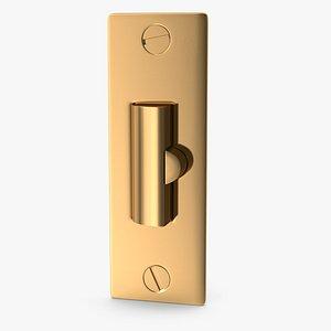 door lock dead 3D model