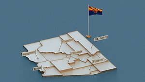 state cities capital 3D model