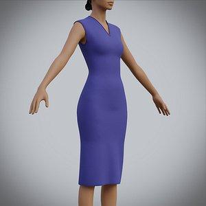 3D fashion clothing dress