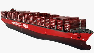 Container Ship  HamburgSudSanta Clarita 3D