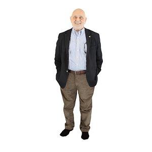 elder man standing 3D model