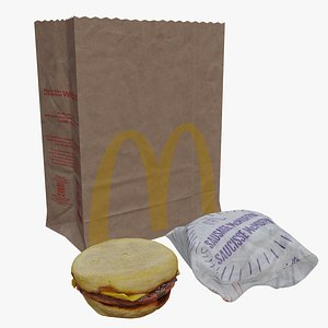 mcdonald sausage mcmuffin 3D